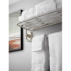 Kingsley chrome towel shelf