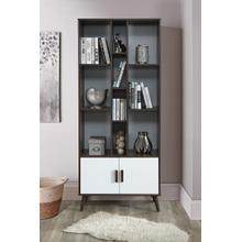 "See Details - 2012 DARK WALNUT & WHITE Faux Wood Book Shelves - 75"" H"