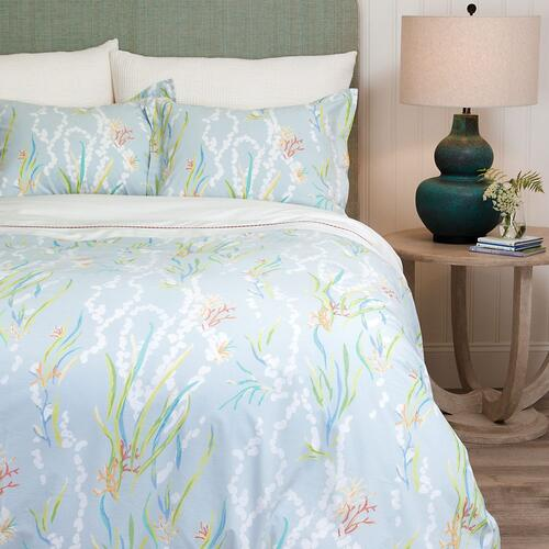 Reef Duvet Cover & Shams, LAKE, FQ