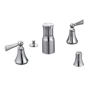Wynford chrome two-handle bidet faucet Product Image