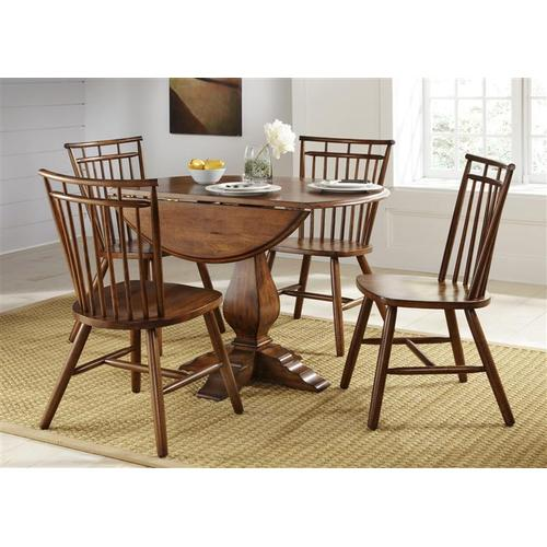 Liberty Furniture Industries - 5 Piece Round Table Set