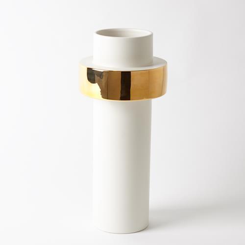 Gold Ring Vase-Low