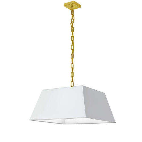 Product Image - 1lt Milano Medium Pendant, Wht Shade, Agb
