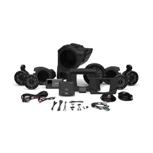 Rockford Fosgate - PMX-2, 800 Watt, Front Color Optix™ Speaker, Subwoofer & Rear Speaker Kit for Select Polaris® RZR® Models (Gen-3)