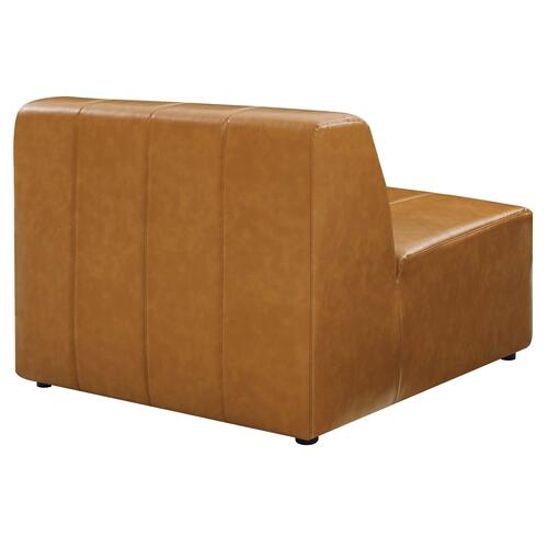 Bartlett Vegan Leather Armless Chair in Tan