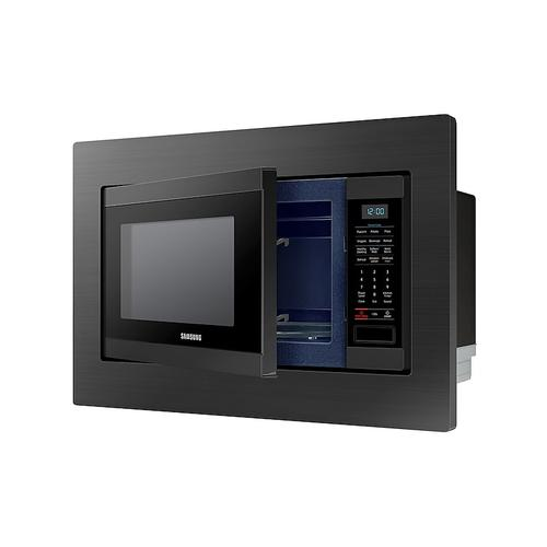 Samsung - 1.9 cu. ft. Countertop Microwave for Built-In Application in Fingerprint Resistant Black Stainless Steel
