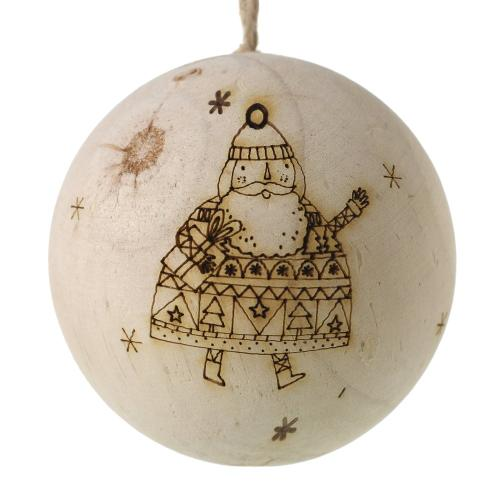 "2.75"" Rustic Christmas Ornament (Santa Option)"