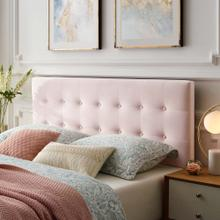 Emily Queen Biscuit Tufted Performance Velvet Headboard in Pink