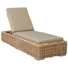 Cancun Chaise Lounge w/off-white cushion