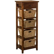 Tuscan Retreat® 4 Basket Stand - Antique Pine