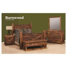 Queen Reclaimed Brown Bed, Reclaimed Brown Dresser, Reclaimed Brown Mirror, Reclaimed Brown Nightstand