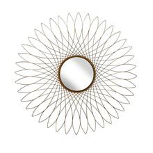 "Metal 31.5"" Spirograph Wall Mirror, Gold Wb"