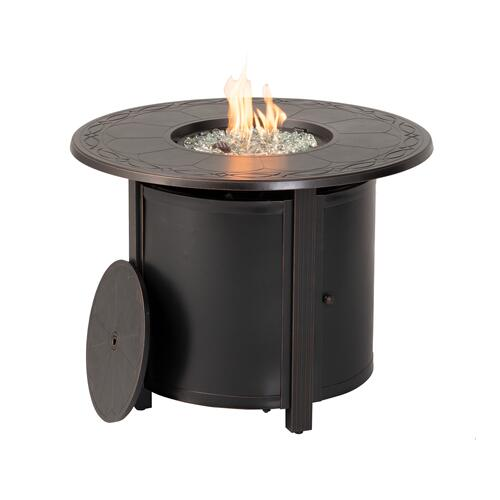 "Hartwick 34"" Round Gas Fire Pit Chat Table"
