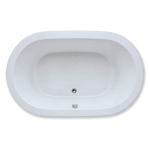 "Easy-Clean High Gloss Acrylic Surface, Oval, MicroSilk® Bathtub, Premiere Package, 42"" X 72"""