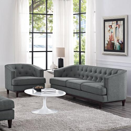 Coast Living Room Set Set of 2 in Gray