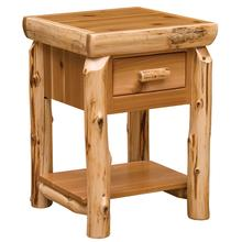 See Details - One Drawer End Table with Shelf - Natural Cedar
