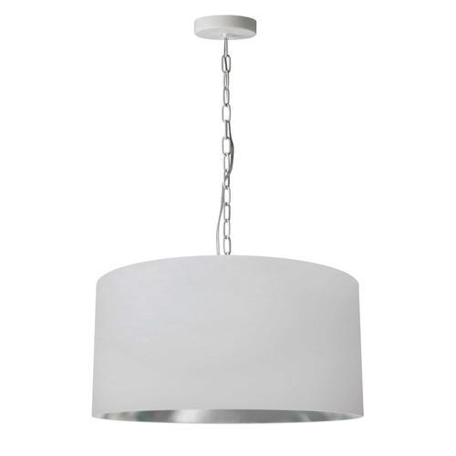 Product Image - 1lt Braxton Medium Pendant, Wht/slv Shade, Wht