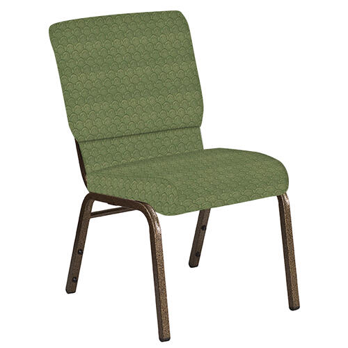 Flash Furniture - 18.5''W Church Chair in Arches Herbal Fabric - Gold Vein Frame