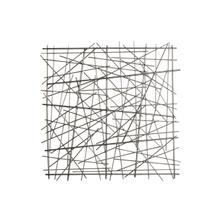 "Metal 21"" Abstract Square Wall Decor, Black Wb"