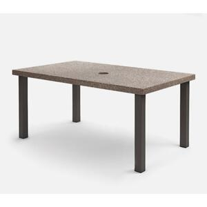"42"" x 62"" Rectangular Cafe Table (with Hole) Ht: 30.25"" Post Aluminum Base (Model # Includes Both Top & Base)"