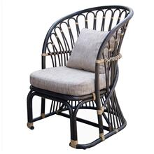 Meredith Fabric Accent Chair, Dark Brown