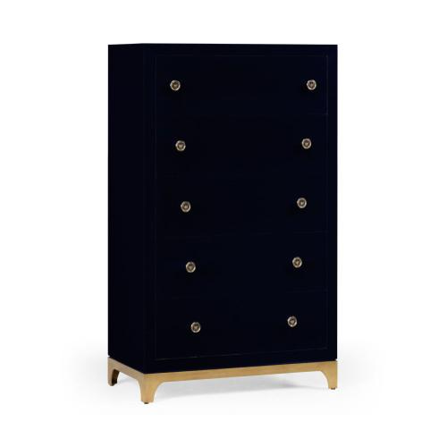Tall chest with blazer buttons (British Navy/Gold)