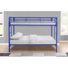 See Details - 7540 BLUE Metal Bunk Bed