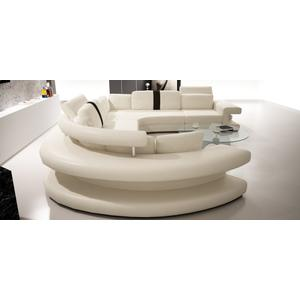 Divani Casa 6123 Modern White and Black Bonded Leather Sectional Sofa