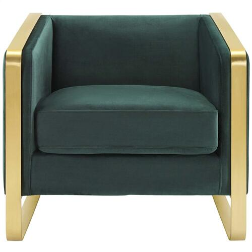 Visualize Armchair Performance Velvet Set of 2 in Green