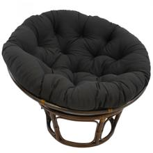 Bali 42-inch Indoor Fabric Rattan Papasan Chair - Walnut/Black