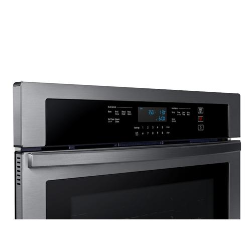 "30"" Smart Single Wall Oven in Black Stainless Steel"