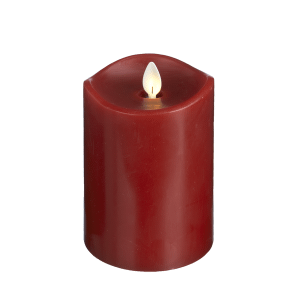 Red LED Wax Pillar Candle