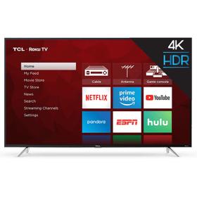 "TCL 55"" Class 4-Series 4K UHD HDR Roku Smart TV - 55S403"