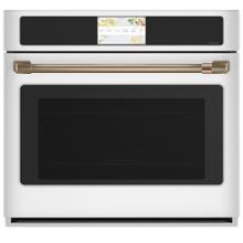 """See Details - Café 30"""" Built-In Convection Single Wall Oven Matte White"""
