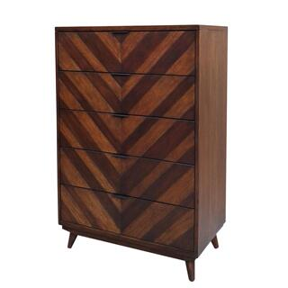 Piero Chevron Chest with 5 Drawers, Java
