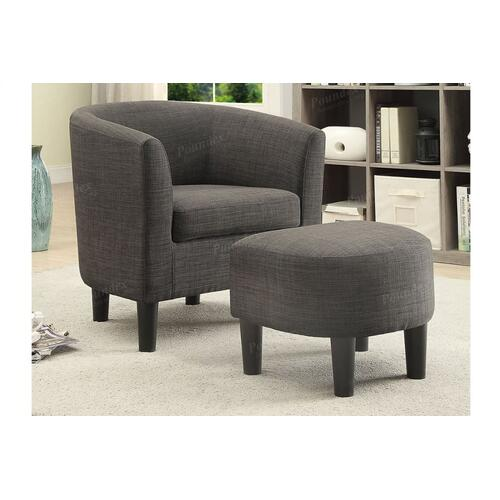 Accent Chair W/ Ottoman