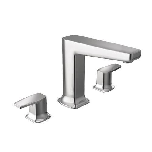 Via chrome two-handle roman tub faucet