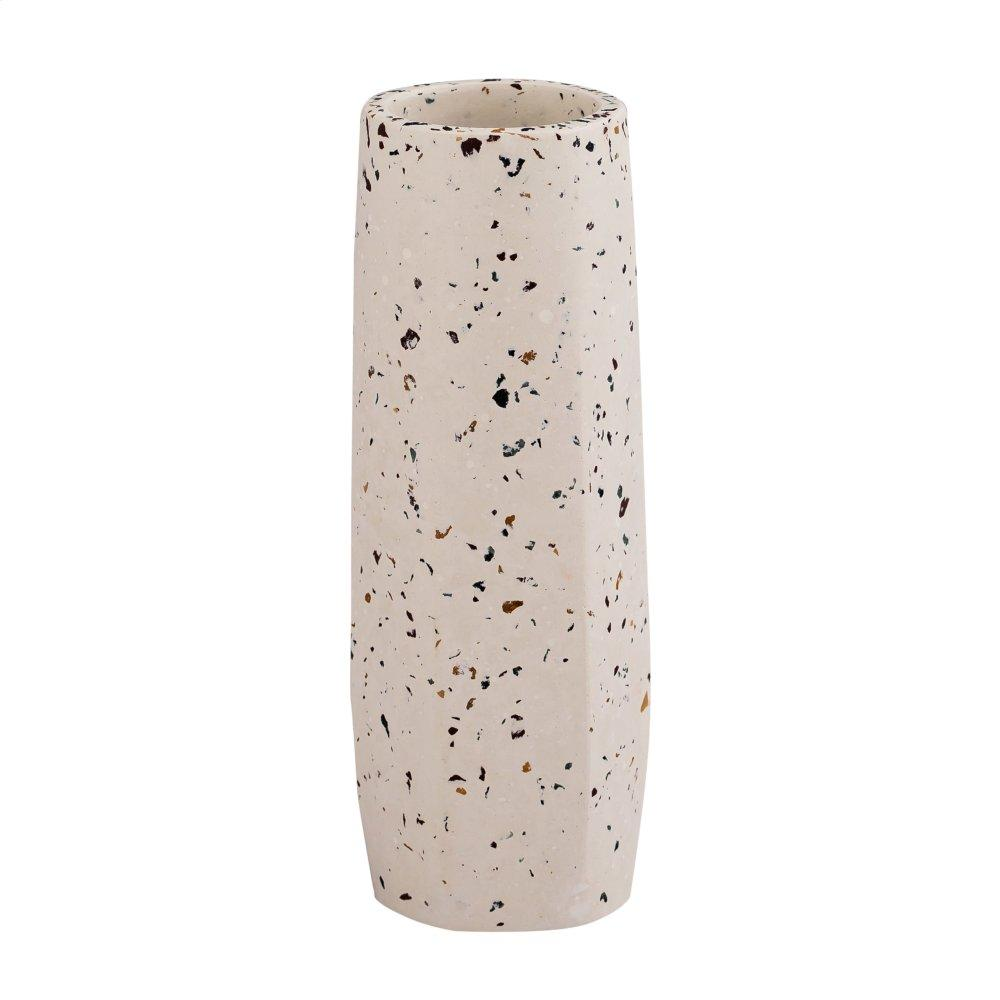 See Details - Terrazzo White Vase - Small Skinny