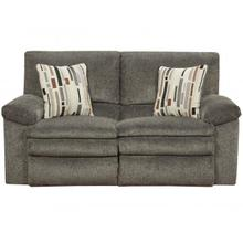 Tosh Reclining Loveseat in Soft Pewter Chenille Fabric