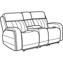 Product Image - Danvers Leather Power Reclining Loveseat with Console and Power Headrests