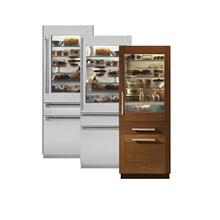 "Monogram® 30"" Fully Integrated Glass-Door Refrigerator for Dual Installation"