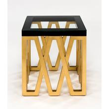 """View Product - End Table with Glass 24x24x26.5"""""""