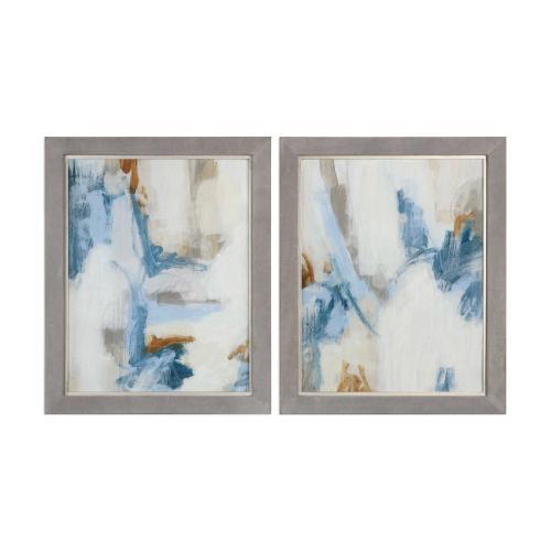 Intermittent Framed Prints, S/2