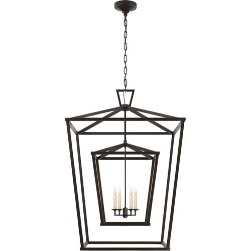 Visual Comfort CHC2199AI E. F. Chapman Darlana 4 Light 29 inch Aged Iron Foyer Lantern Ceiling Light