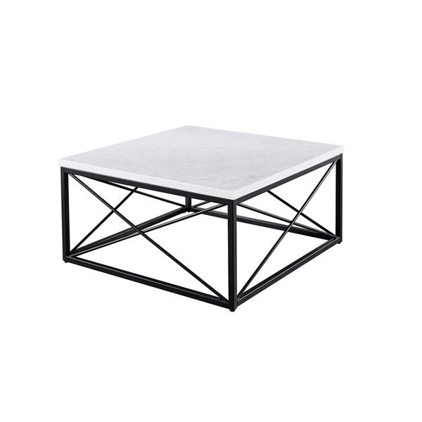 See Details - Skyler White Marble Cocktail Table