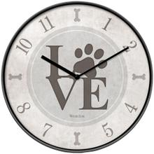 10-Inch Love Paws Wall Clock