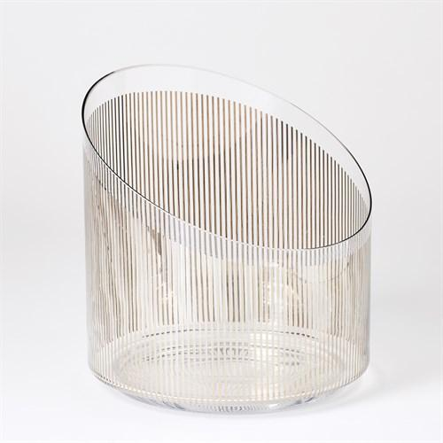 Platinum Stripe Ice Bucket