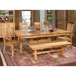 """Trestle Table W/2-18"""" Leaves"""