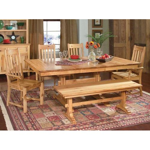 """See Details - Trestle Table W/2-18"""" Leaves"""
