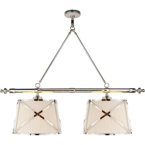 Visual Comfort CHC1481PN-L E. F. Chapman Grosvenor 4 Light 51 inch Polished Nickel Linear Pendant Ceiling Light